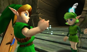 Link and ocarina
