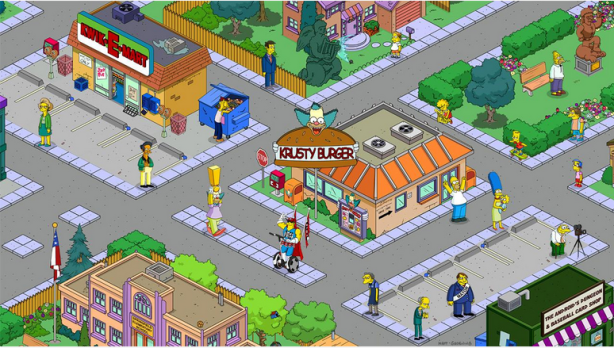 Simpsons tapped out town